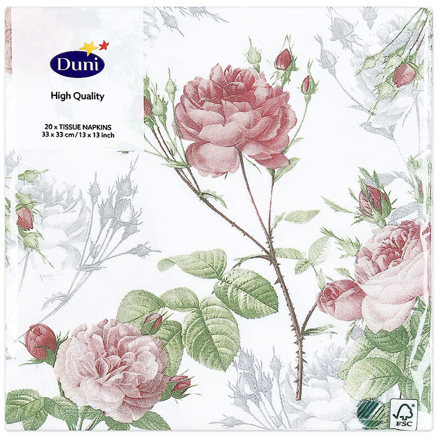 Салфетки DUNI бумажные Garden Pride 3 слоя 33х33 см, 20шт