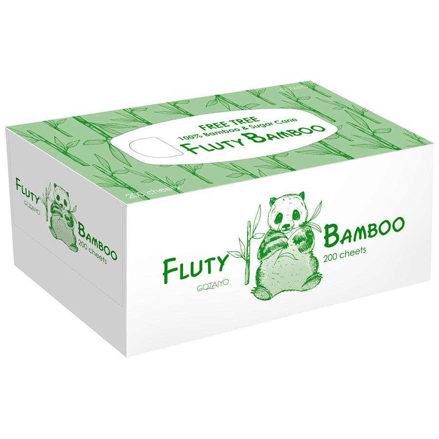 Бумажные салфетки Fluty двухслойные (бамбук), 200шт