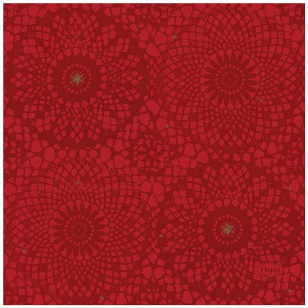 Салфетки 3-х слойные Duni Festive Charm Red 24*24см 20шт