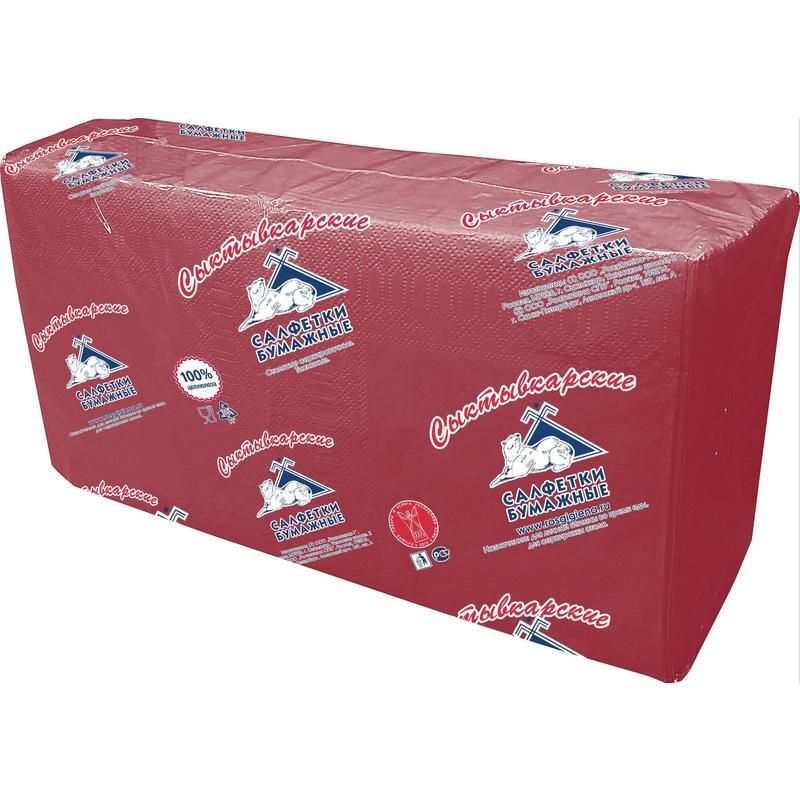 Салфетки бумажные Profi Pack 33x33 см бордовые 2-слойные 200 штук в упаковке