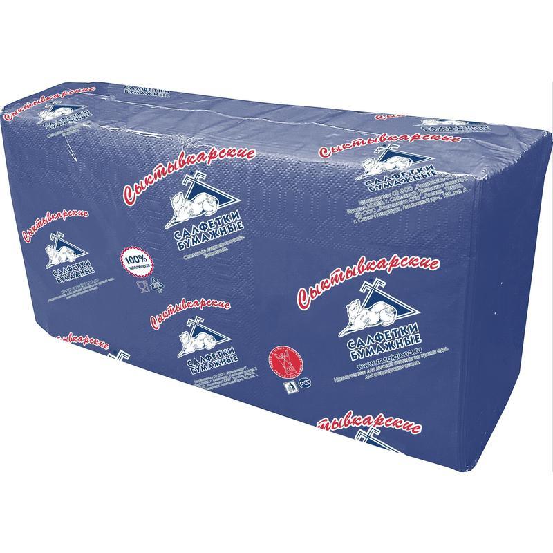 Салфетки бумажные Profi Pack 33x33 см синие 2-слойные 200 штук в упаковке