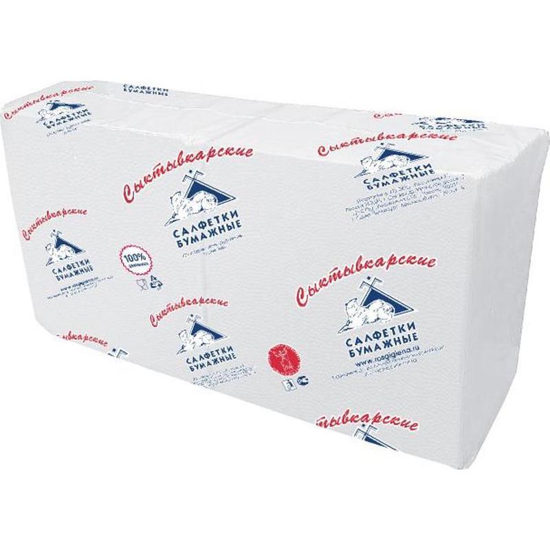 Салфетки бумажные Profi Pack 33x33 см белые 1-слойные 250 штук в упаковке