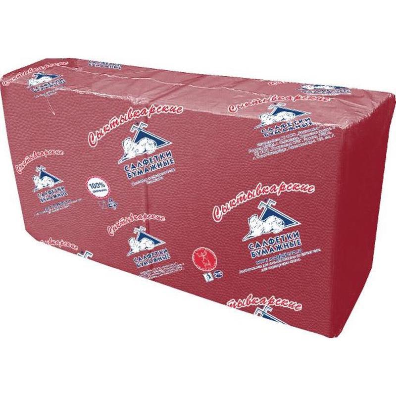 Салфетки бумажные Profi Pack 1-слойные 33х33 см бордовые (250 штук в упаковке)