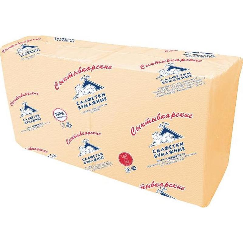 Салфетки бумажные Profi Pack 1-слойные 33х33 см шампань (250 штук в упаковке)