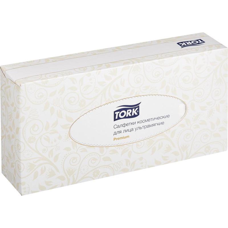 Салфетки косметические Tork Premium 120380 2-слойные (100 штук в упаковке)