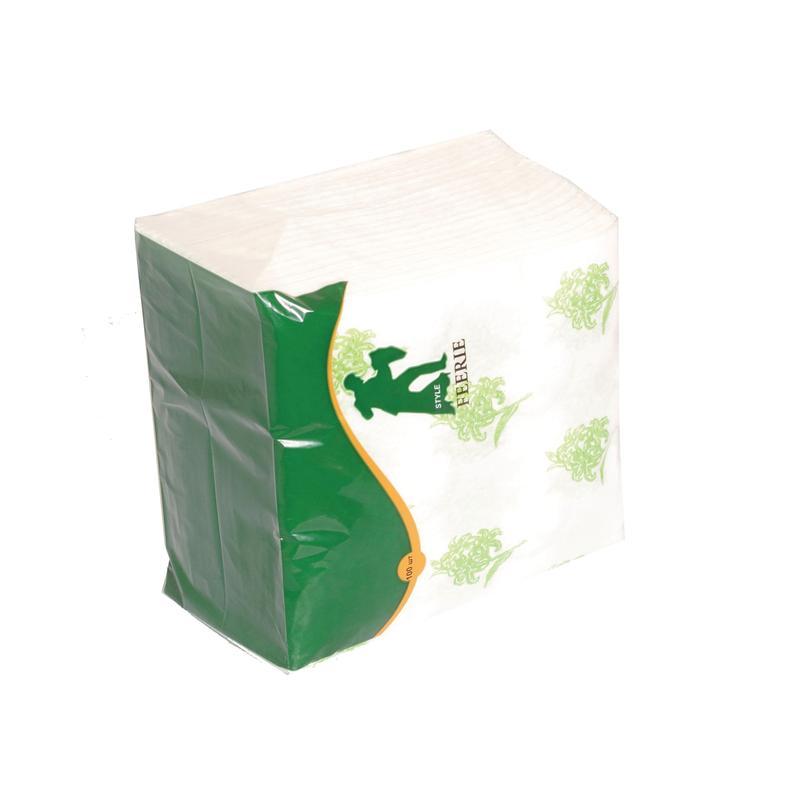 Салфетки бумажные Style 1-слойные 24x24 см белые с рисунком (100 штук в упаковке)