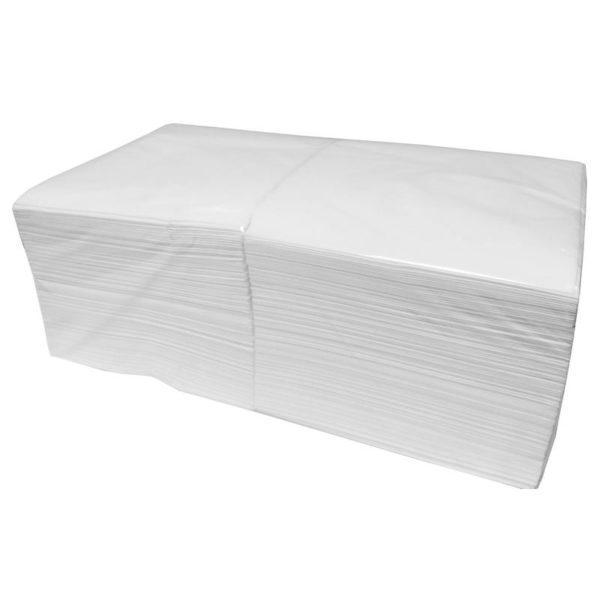 Салфетки бумажные 33x33 см белые 3-слойные 200 штук в упаковке