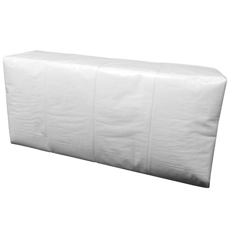 Салфетки бумажные 33x33 см белые 2-слойные 200 штук в упаковке