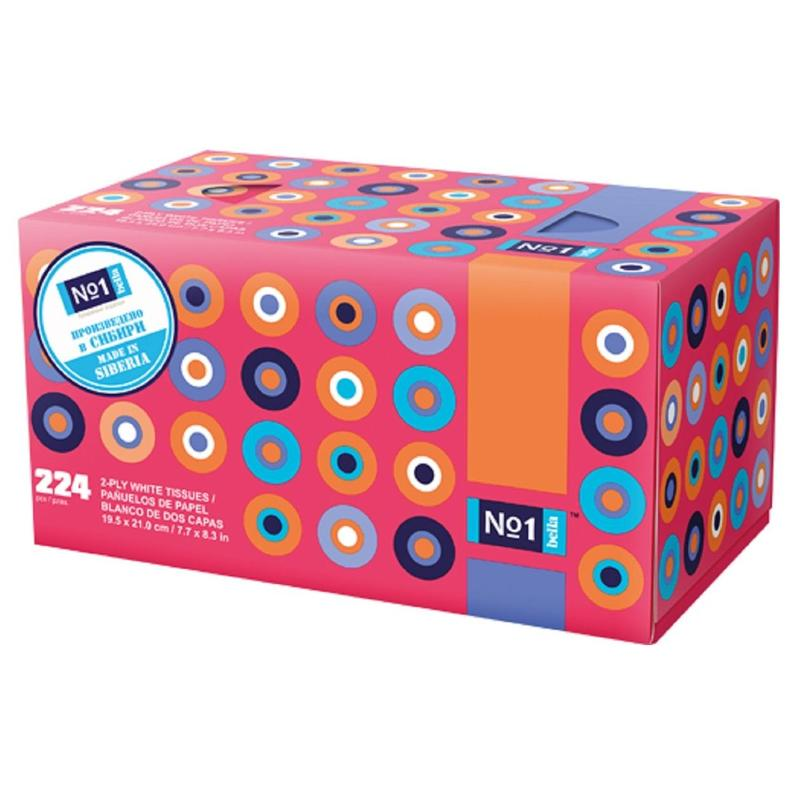Салфетки косметические Bella 2-слойные (224 штуки в упаковке)